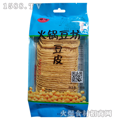 帅鸣-火锅豆坊豆皮150g(蓝袋装)