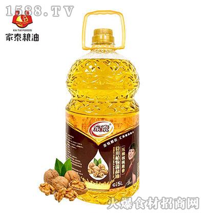 家泰压榨核桃原香食用植物调和油5L