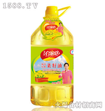 合家欢纯香压榨菜籽油5L