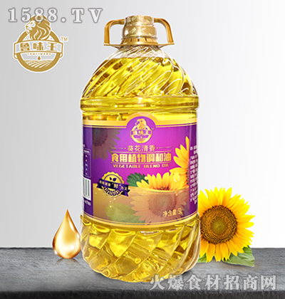 鲁味王葵花清香食用植物调和油【5L】