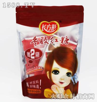 长方形枣胶红糖【216克】