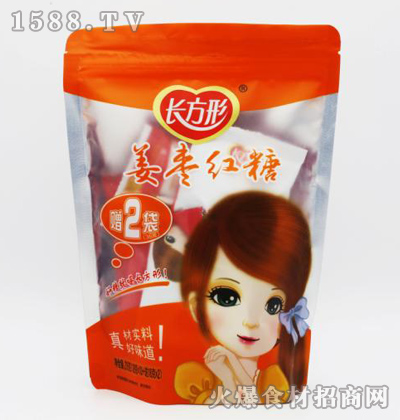 长方形姜枣红糖【216克】