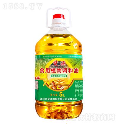 楚源 食用植物调和油(芝麻花生调和型)5L