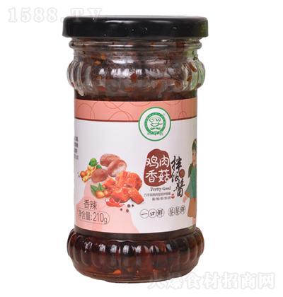 巧手翁 鸡肉香菇拌饭酱(香辣)210g