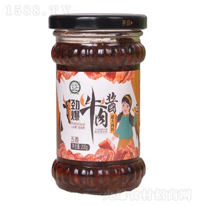 巧手翁 劲爆牛肉酱(五香)200g