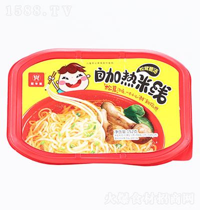 旺华派自热松茸菌汤干米线152g