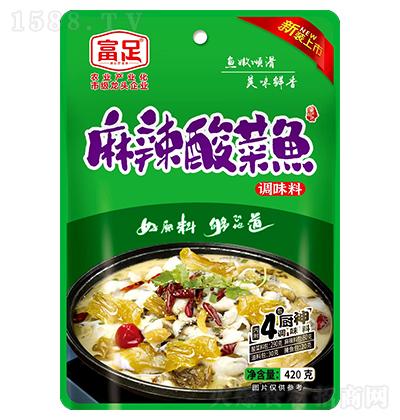 富足 麻辣酸菜鱼 420克(酸菜料包290克,麻辣料包80克,油料包30克,腌鱼包20克)