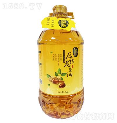 皇脂 压榨花生油 5LX4瓶每箱