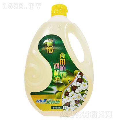 皇脂 添加橄榄油茶油食用植物调和油 5LX4瓶每箱