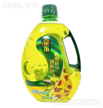 皇脂 添加橄榄葵花食用植物调和油 3LX4瓶每箱