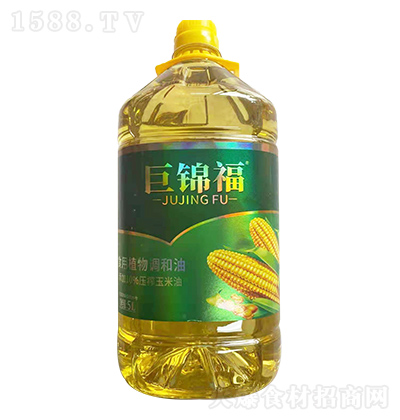 巨锦福 玉米食用植物调和油 5L