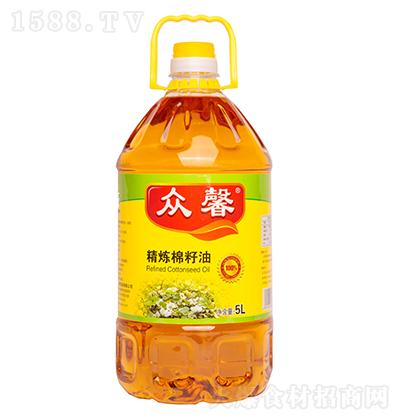众馨 精炼棉籽油 5L