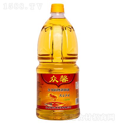 众馨 花生原香食用植物调和油 1.8L