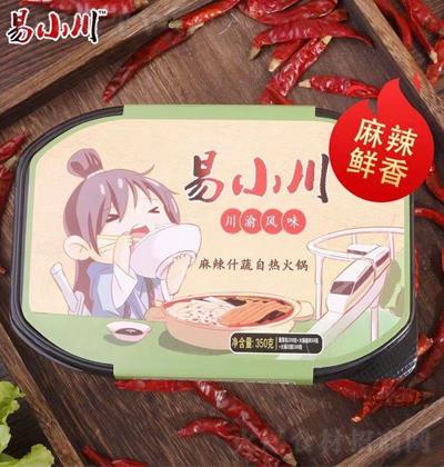 易小川 麻辣什蔬自热式方便火锅 350克