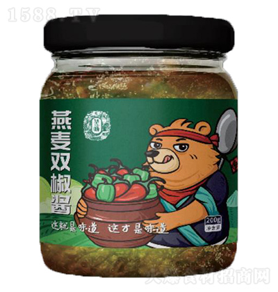 华畅 燕麦双椒酱 200g