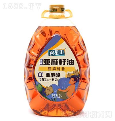 君星坊 风味压榨亚麻籽油-5L