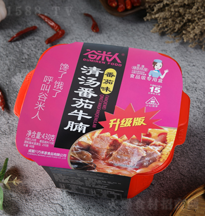 谷米人 清汤番茄牛腩 番茄味 430克