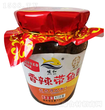 峻和 香辣带鱼罐头 410克