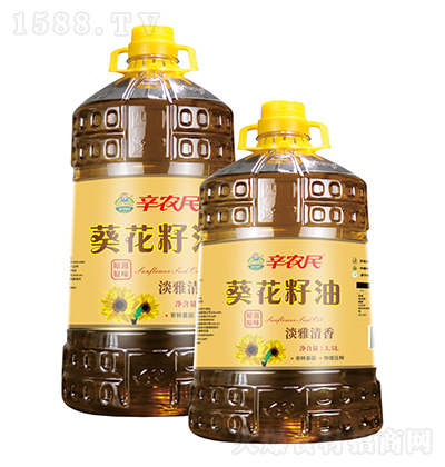 辛农民 一级葵花籽油 5L、3.5L、400ml