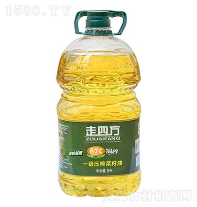 走四方87度温榨一级压榨菜籽油5升