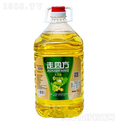走四方 大豆油 5脱精炼 5L