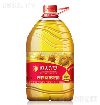 恒大兴安 压榨葵花籽油 5L