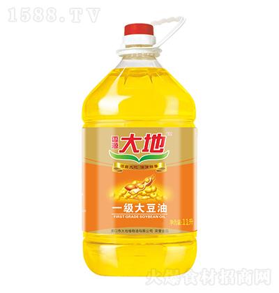香源大地 一级大豆油 11升
