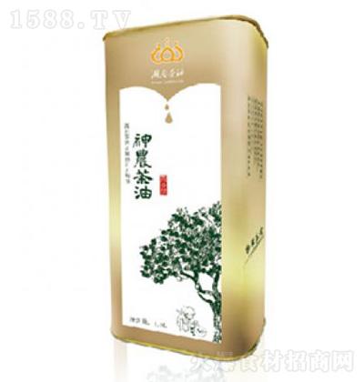 神农茶 油清淡型纯山茶油马口铁盒装 1.5L