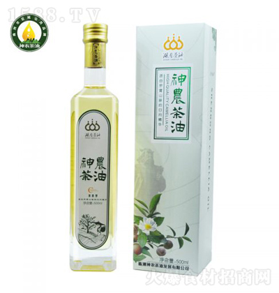 神农茶油 清香型纯山茶油 500ml