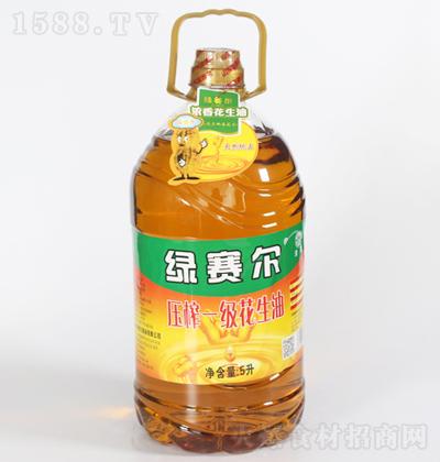 绿赛尔 压榨一级花生油 5L