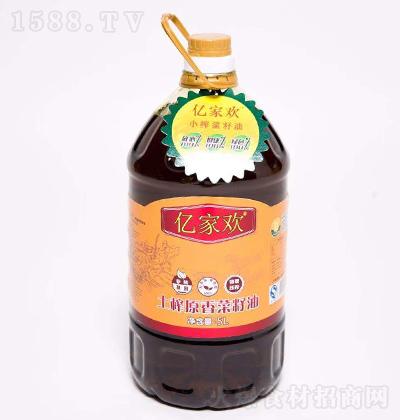 亿家欢 土榨原香菜籽油 5L