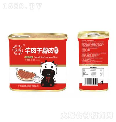 玫霖 牛肉午餐肉罐头 340g
