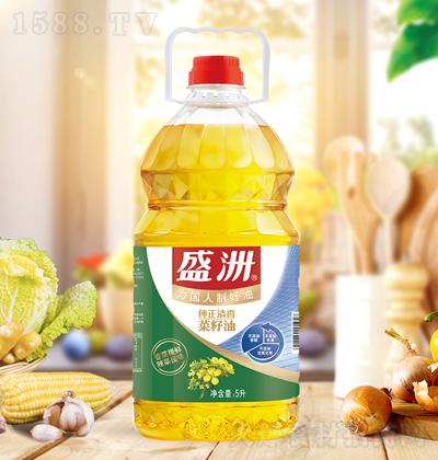 盛洲 纯正清香菜籽油 5升