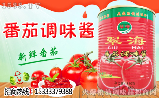 翠海番茄酱,让您爱上新鲜番茄的味道!