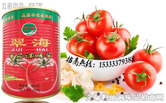 翠海番茄调味酱,茄香诱人,酸甜醒胃!
