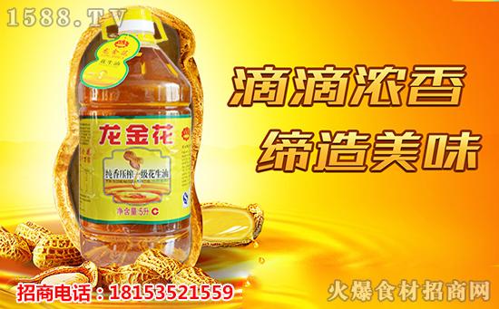 龙金花纯香压榨一级花生油,用心匠造,品质上等!
