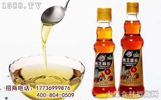 新虹纯芝麻油,闻之香味醇厚而不腻,入口柔滑香浓有营养!
