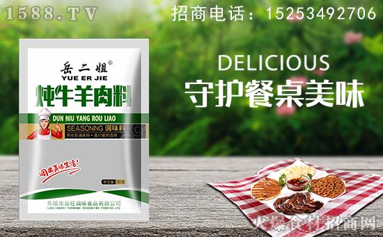 岳二姐炖牛羊肉料调味料,炖的汤味道浓厚,尽享美味!