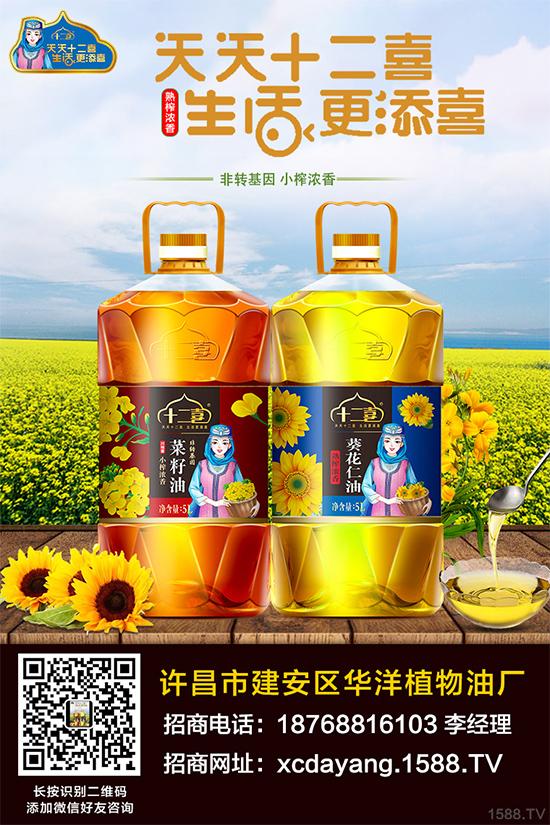 十二喜熟榨浓香葵花仁油,优质透亮,色泽金黄!