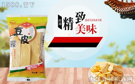 绿翠精品豆皮,营养价值较高,味道不比荤菜差!