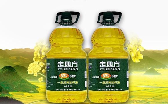 走四方温榨一级压榨菜籽油5L