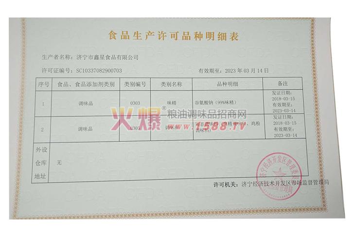 食品生产许证